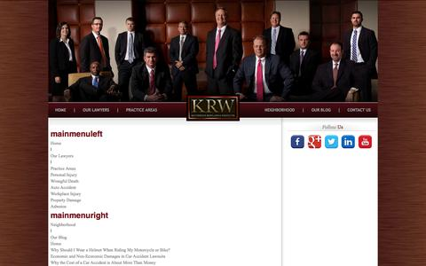 Screenshot of Site Map Page krwlawyers.com - Sitemap - captured Oct. 29, 2014