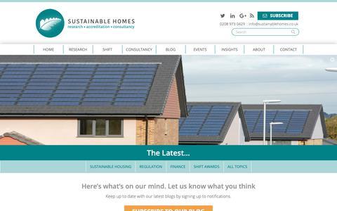 Screenshot of Blog sustainablehomes.co.uk - Blog - Sustainable Homes - captured Oct. 20, 2018