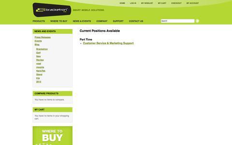 Screenshot of Jobs Page bracketron.com - Careers | Bracketron - captured Sept. 19, 2014
