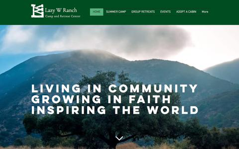 Screenshot of Home Page lazywranch.org - Lazy W Ranch Camp - captured July 17, 2018