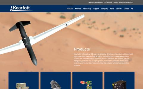 Screenshot of Products Page kearfott.com - Products – Kearfott - captured Feb. 12, 2016