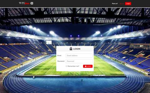 Screenshot of Login Page wisfans.com - WISFans - Homepage - captured Oct. 9, 2014