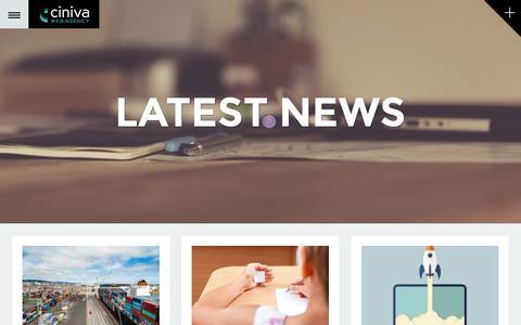 Screenshot of Blog cinivawebagency.com - Ciniva Web Agency Website Design and Marketing Blog - captured Dec. 9, 2015