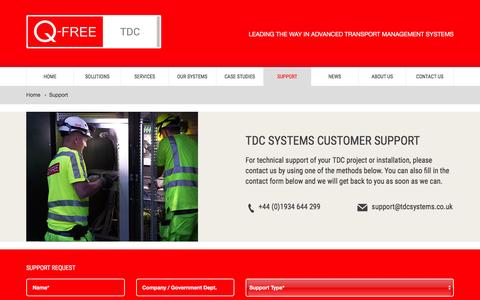 Screenshot of Support Page tdcsystems.co.uk - Support | TDC Systems - captured Feb. 22, 2016