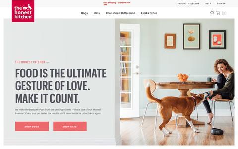 Screenshot of Home Page thehonestkitchen.com - The Honest Kitchen   Homepage - captured Dec. 14, 2019