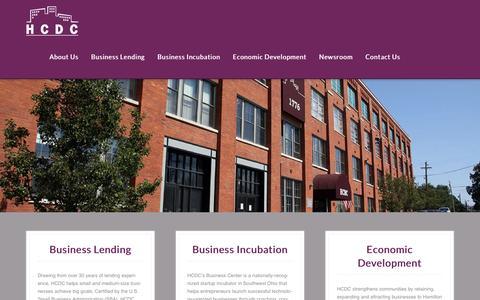 Screenshot of Home Page hcdc.com - HCDC - A comprehensive driving force behind business development - captured Dec. 9, 2015