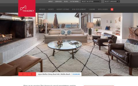 Screenshot of Home Page theagencyre.com - The Agency - A Worldwide, Full-Service, Luxury Real Estate Brokerage - captured Feb. 2, 2016