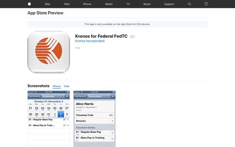 Kronos for Federal FedTC on the App Store