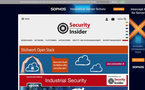 Screenshot of Home Page security-insider.de - Security-Insider: IT-Security, Trojaner, Firewall, Antivirus, Netzwerksicherheit - captured Sept. 22, 2018