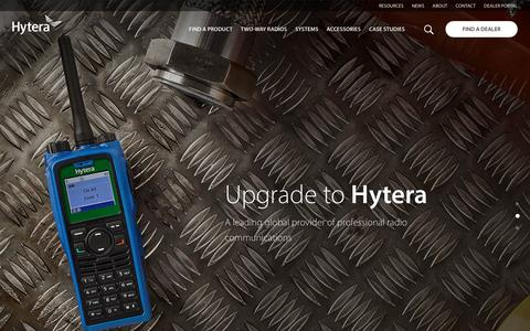 Screenshot of Home Page hytera.co.uk - Two-Way Radio Communications | Hytera - captured March 23, 2017