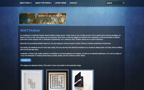 Screenshot of Products Page riact.co.za - RIACT Products | RIACT - captured Oct. 7, 2014