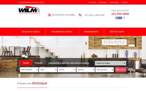 Screenshot of Home Page wilmaimoveis.com.br - Wilma Im—veis - captured Jan. 12, 2016