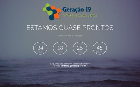 Screenshot of Home Page geracaoi9.com.br - Geração i9 - A Web do Seu Jeito! - captured Jan. 25, 2017
