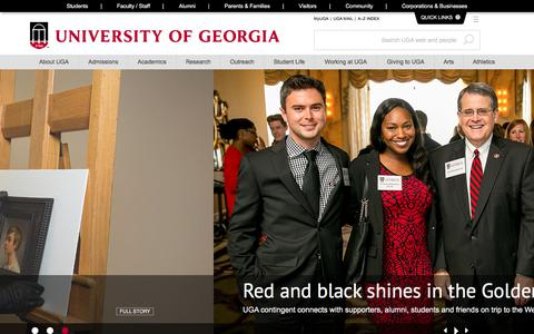 Screenshot of Home Page uga.edu - University of Georgia: Birthplace of public higher education - captured June 20, 2017