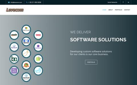 Screenshot of Home Page levecom.com - Levecom - captured July 21, 2015