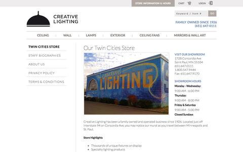 Screenshot of About Page Privacy Page creative-lighting.com - Contact Us | Creative Lighting - captured Oct. 22, 2014