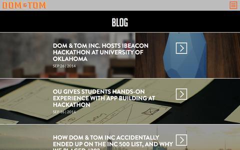 Screenshot of Blog domandtom.com - Blog - Dom & Tom - captured Nov. 3, 2014