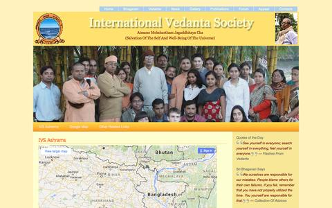 Screenshot of Maps & Directions Page ivsweb.org - Location Map - International Vedanta Society - captured May 13, 2016