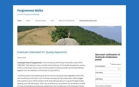 Screenshot of Home Page forgivenesswalks.com - How to Forgive: Appalachian Trail Pilgrimage Walk    Forgivenesswalks.com - captured Oct. 6, 2014