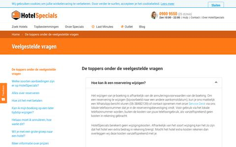 Screenshot of FAQ Page hotelspecials.nl - hotelspecials.nl - captured Sept. 30, 2018