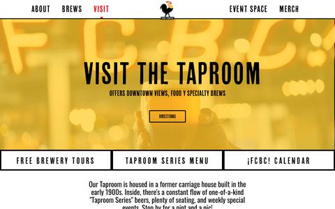 Screenshot of FAQ Page fcbrewing.com - Taproom - Four Corners Brewing - Craft Brewery in Dallas, TX - captured Oct. 11, 2018