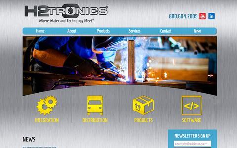 Screenshot of Press Page h2tronics.com - News   - H2trOnics - captured Oct. 28, 2014
