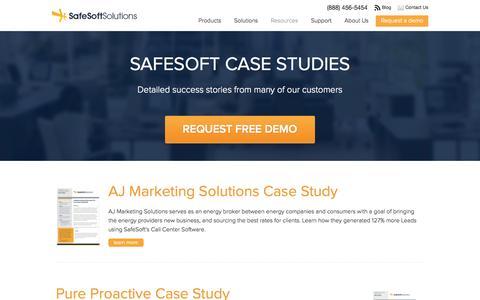 Screenshot of Case Studies Page safesoftsolutions.com - Case Studies - safesoftsolutions - captured Sept. 19, 2014