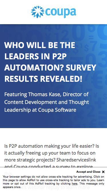 Screenshot of Landing Page  coupa.com - AP Automation Webinar Replay