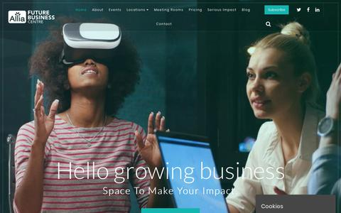 Screenshot of Home Page futurebusinesscentre.co.uk - Home - Workspace,co-workingandcommunity created toamplify your impact - captured Oct. 11, 2018