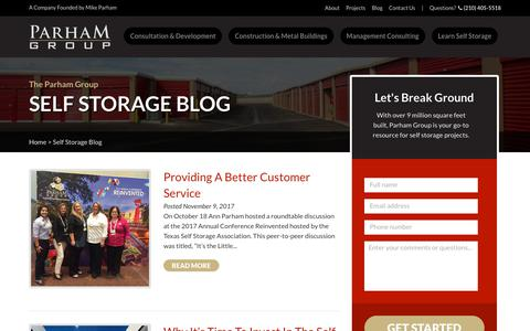 Screenshot of Blog learnselfstorage.com - Articles, Lessons, & Projects | Learn Self Storage - captured Sept. 27, 2018