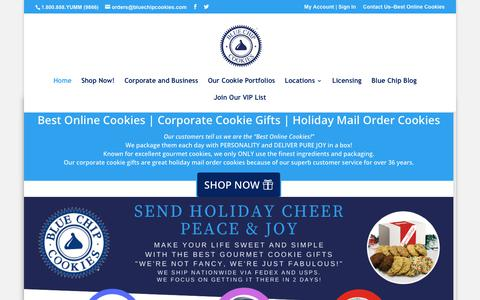 Screenshot of Home Page bluechipcookiesdirect.com - Best Online Cookies | Corporate Cookie Gifts| Holiday Mail Order Cookies - captured Nov. 16, 2019
