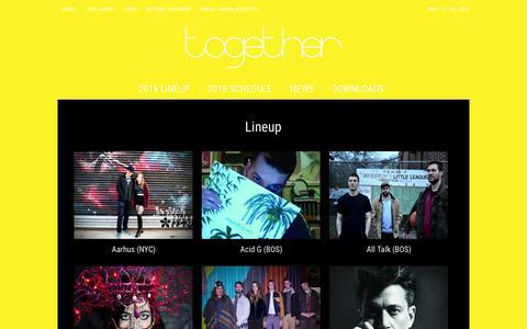 Screenshot of Home Page togetherboston.com - Home - Together - captured Sept. 27, 2016