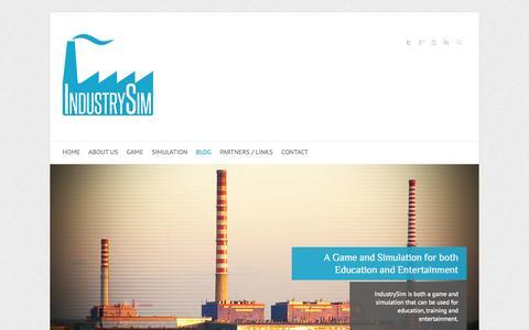 Screenshot of Blog industrysim.com - Blog | IndustrySim - captured Oct. 6, 2014