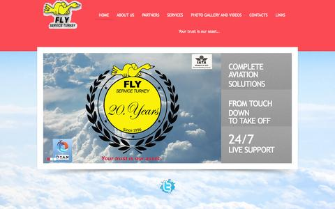Screenshot of Home Page flyserviceturkey.com.tr - .: FLY SERVICE TURKEY :. - captured Sept. 1, 2015