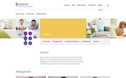 Screenshot of Team Page essence-grp.com - Essence Team - captured Aug. 2, 2018
