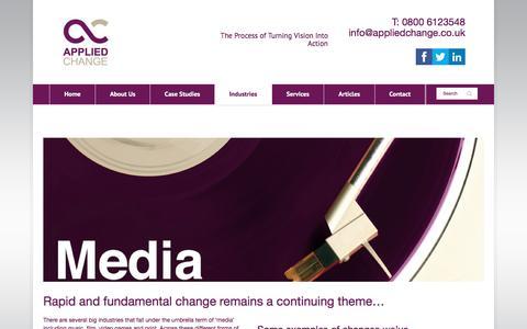 Screenshot of Press Page appliedchange.co.uk - Media - Applied Change - captured Nov. 21, 2016