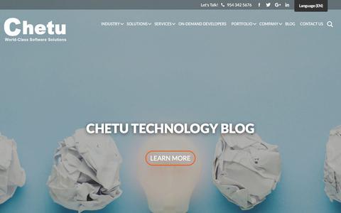 Screenshot of Blog chetu.com - Chetu - Blog - Delivering World-Class Software Development Solutions - captured Sept. 14, 2018