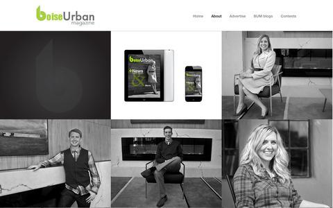 Screenshot of About Page boiseurbanmagazine.com - Boise Urban Magazine  » About - captured Sept. 30, 2014