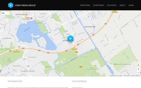Screenshot of Contact Page videomediagroep.nl - Contact – Video Media Group - captured June 17, 2017
