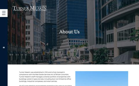 Screenshot of About Page turnermeakin.com - About Us - Turner Meakin - captured May 29, 2019