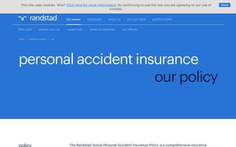 PAI (personal accident insurance policy) | Randstad.co.uk