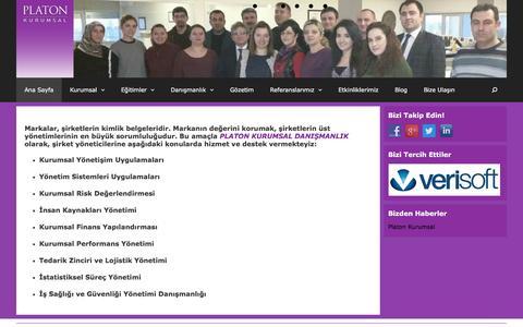 Screenshot of Home Page platonkurumsal.com - PLATON KURUMSAL DANIŞMANLIK - captured May 11, 2017