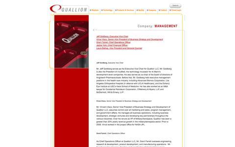Screenshot of Team Page quallion.com - Management - Quallion - captured Sept. 30, 2014
