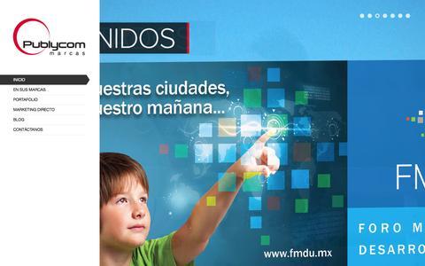Screenshot of Home Page publycom.com.mx - En sus marcas « Publycom - captured Oct. 3, 2014