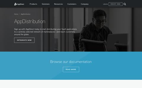 Screenshot of Developers Page appdirect.com - AppDistribution - AppDirect - captured Oct. 9, 2017