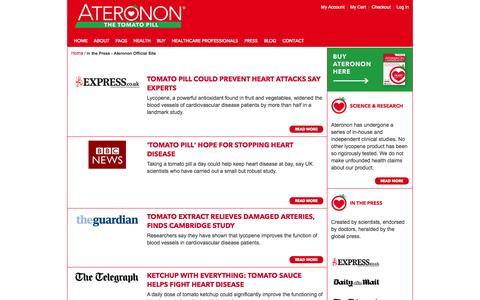 Screenshot of Press Page ateronon.com - Press - captured Oct. 1, 2014