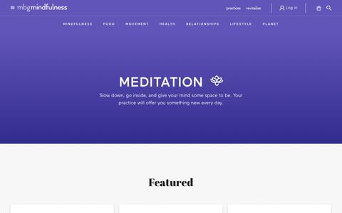 meditation - mindbodygreen
