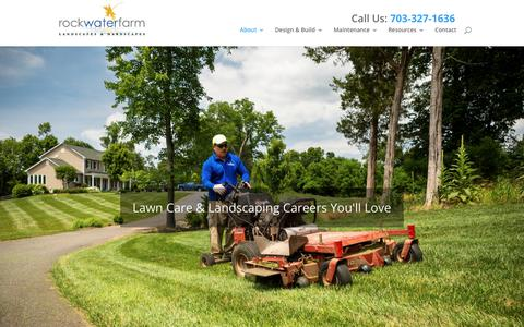 Screenshot of Jobs Page rockwaterfarm.com - Careers | Rock Water Farm Landscapes & Hardscapes - captured Sept. 21, 2018