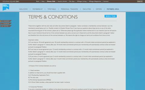 Screenshot of Terms Page dolphinsquare.co.uk - Terms & Conditions - Dolphin Square - captured Oct. 4, 2014