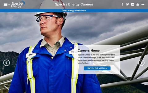 Screenshot of Jobs Page spectraenergy.com - Careers - Spectra Energy Careers - captured Oct. 3, 2015